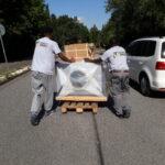Spezial Transporte Holzofen Sicherheitsstufen Feuerfest Hoheluft West