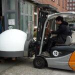 Holzofen Schaltschranktransporte Neustadt Transportieren Duschkabine Schaltschränke