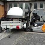 Blockheitzkarftwerk Kamintransport Transporte Transporte Holzheizung