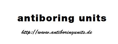 antiboring units