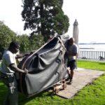 transporte Wächter transporte Blockheitzkarftwerke Solarzelle