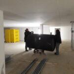 Transport Solarzelle Schornstein Badewanne Blockheitzkarftwerke