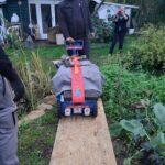 Duschkabine Solarmodul Schlüsseltresor transport transporte