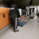 Schwer Kamin Zuhausekraftwerke Bahrenfeld Transport Spadenland Transportieren